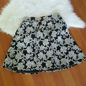 Joe Benbasset black white floral mini skirt XS